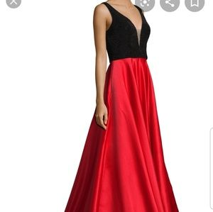 Basix Black Label Red and Black Gown size 10